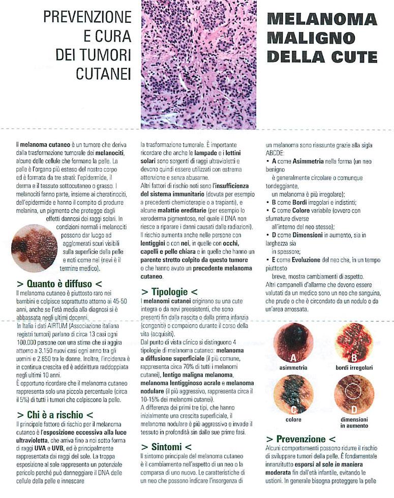 Prevenzione e cura dei tumori cutanei